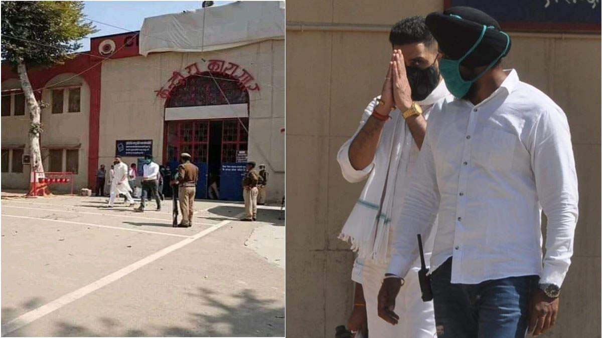 आगरा सेंट्रल जेल से बाहर आए अभिषेक बच्चन, लोगों ने की जमकर नारेबाजी