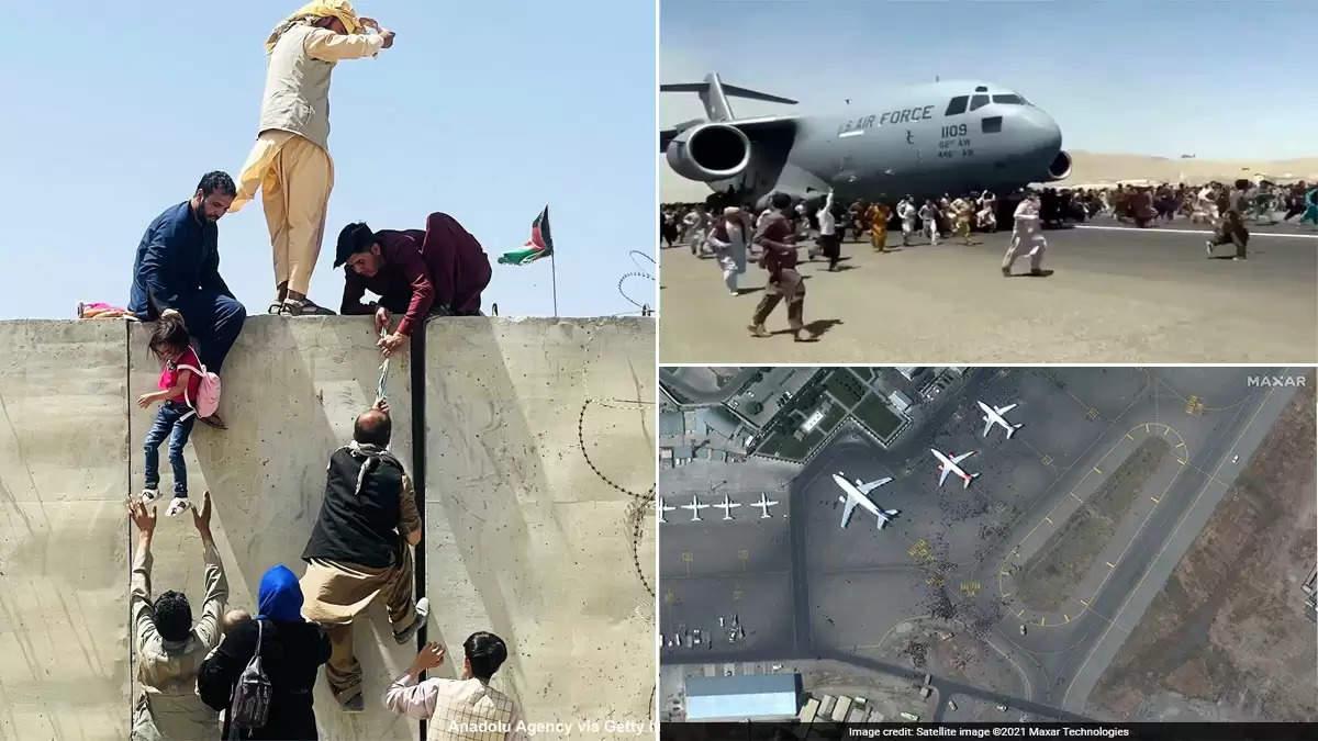 Kabul airport satellite images