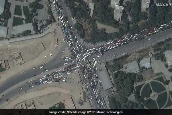 kabul airport satellite image
