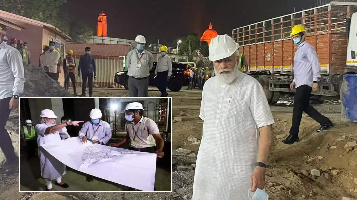 pm narendra modi visit central vista project