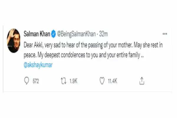 akshay kumar mother