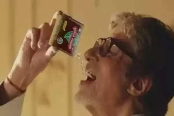 amitabh bachchan stoped kamla pasnd ads