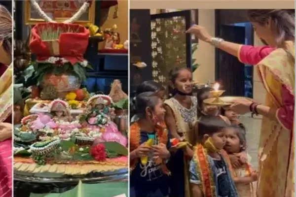Shilpa Shetty kanchak Puja